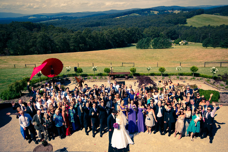 Forest edge winery wedding